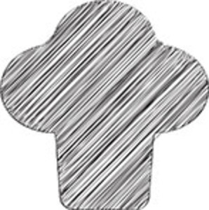 Scribbled Chef Hat Icon On White Background