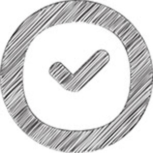 Scribbled Clock On White Background