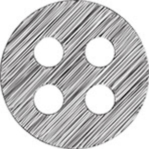 Scribbled Clothes Button On White Background
