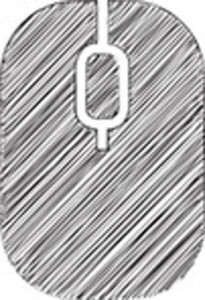 Scribbled Computer Mouse On White Background