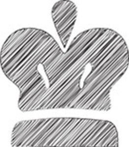 Scribbled Crown On White Background