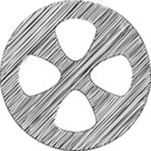Scribbled Film Reel On White Background