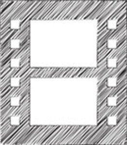 Scribbled Filmstrip On White Background