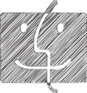Scribbled Finder Logo On White Background