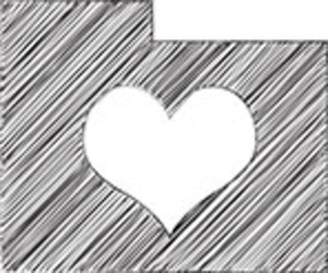 Scribbled Folder With Heart Icon On White Background