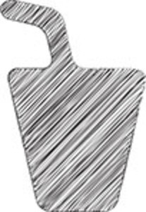 Scribbled Glass With Drinking Straw Icon On White Background