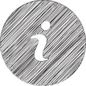 Scribbled Information Icon On White Background