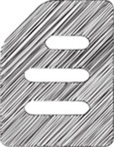 Scribbled Lined Document Icon On White Background&#10,&#10,