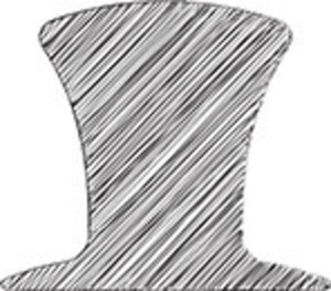 Scribbled Magician Hat On White Background