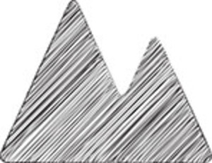 Scribbled Mountains On White Background