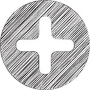 Scribbled Plus Sign Icon On White Background