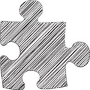 Scribbled Puzzle Icon On White Background