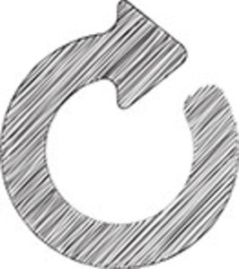 Scribbled Reload Icon On White Background