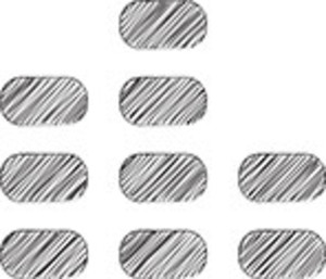 Scribbled Rounded Rectangles On White Background