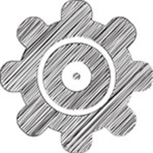 Scribbled Settings Icon On White Background