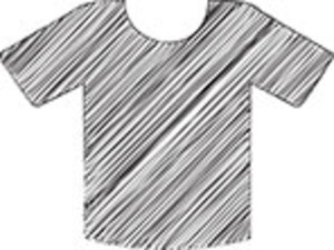 Scribbled Shirt On White Background