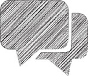 Scribbled Speech Bubbles On White Background