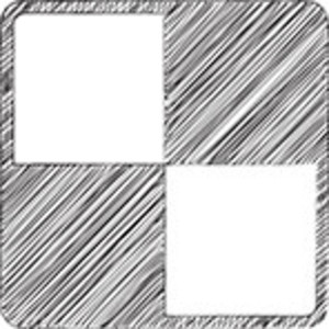 Scribbled Squares On White Background
