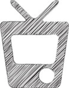 Scribbled Television On White Background
