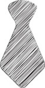 Scribbled Tie On White Background