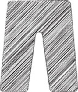 Scribbled Trousers On White Background