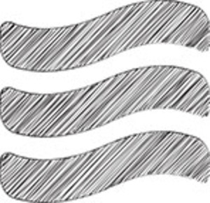 Scribbled Waves On White Background