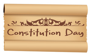 Scroll  Constitution Day Vector Illustration