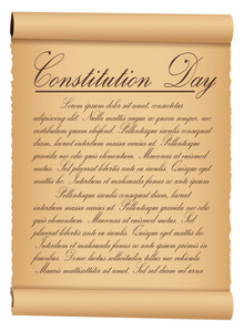 Scroll Parchment Vintage Paper  Constitution Day Vector Illustration