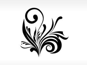 Scroll Pattern Tattoo With Background