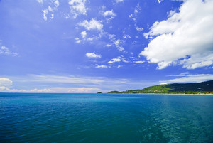 Sea and island on samui Thailand