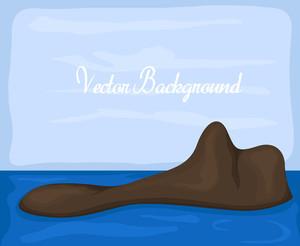 Sea Island Vector Picture