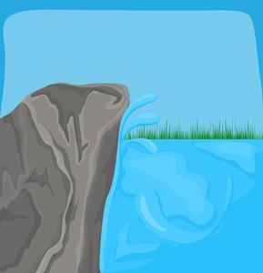 Sea Rock Grasses Background