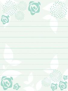 Seagreen Bloom Pattern Letterpad