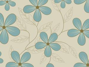 Seagreen Blossoms Wallpaper
