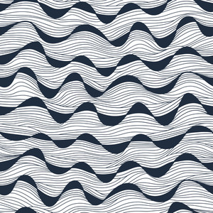 Seamless Abstract Hand-drawn Waves Texture.copy That Square To The Side And You'll Get Seamlessly Tiling Pattern Which Gives The Resulting Image Ability To Be Repeated Or Tiled Without Visible Seams.