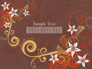 Seamless Background With Beautiful Floral