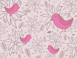 Seamless Background With Birds
