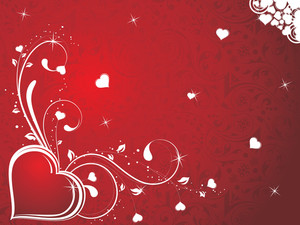 Seamless Background With Decorated Heart