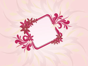 Seamless Background With Floral Frame