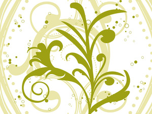 Seamless Background With Green Floral