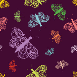 Seamless Butterfly Background