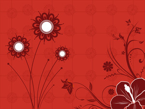 Seamless Floral Background With Artwork