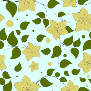 Seamless Floral Pattern Abstract Background