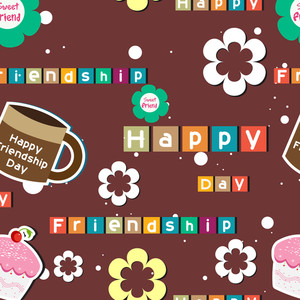 Seamless Friendship Day Background.