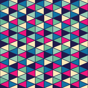 Seamless Geometric Pattern With Geometric Shapes