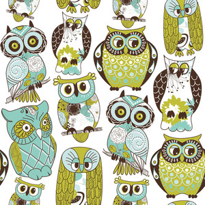 Seamless Owl Pattern.