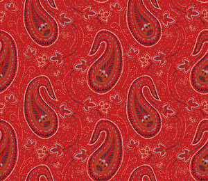 Seamless Paisley Indian Vector Ornament.