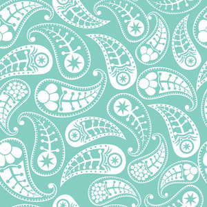 Seamless Paisley Texture In Blue