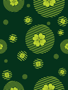 Seamless Pattern Background For 17 March