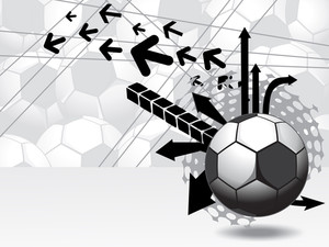 Seamless Pattern Football Background